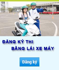 Đăng ký thi bằng lái xe máy xong bao lâu được thi